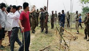 असम-नागालैंड सीमा पर छिड़ा नया विवाद, असम पुलिस ने चर्च बनाने वालों को रोका