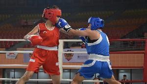 जूनियर बॉक्सिंग मैच में मणिपुर के खिलाडी का जलवा बरकरार