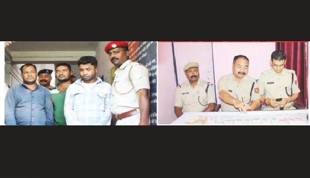 डकैती की घटना का पर्दाफाश, चार आरोपी पुलिस के हत्थे चढ़े