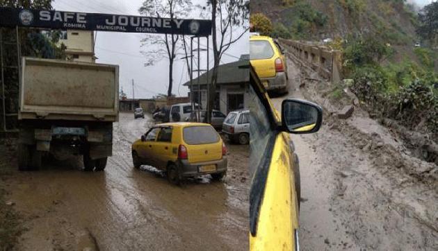 कोहिमा-दीमापुर के राजमार्गों पर 'Safe Journey' का सच बयां कर रही हैं तस्वीरें