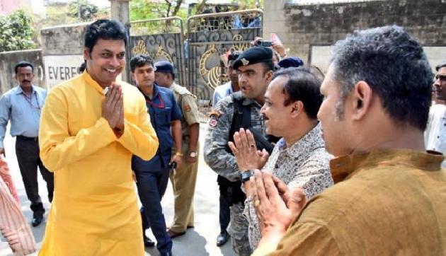 त्रिपुरा के मुख्यमंत्री बिप्लब बंगाल में रहेंगे भाजपा के स्टार प्रचारक