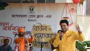 डांस के बाद त्रिपुरा के मुख्यमंत्री ने गाया गाना