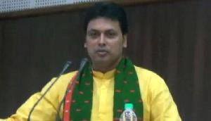 भाजपा सरकार फिर से बनवाएगी माकपा नेता की तोड़ी गर्इ मूर्ति, CM बिप्लब देब ने किया एेलान
