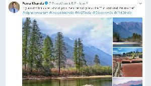 पर्यटकों से अरुणाचल आने को कह रहे CM, पोस्ट की तस्वीरें