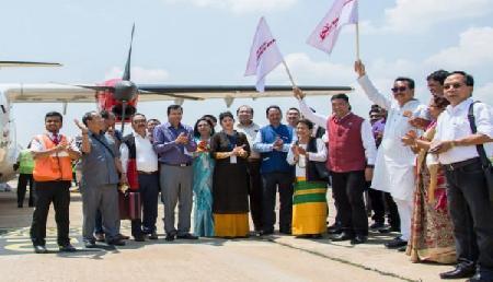 अरुणाचल प्रदेश को मिली कामयाबी, पहली वाणिज्यिक उड़ान शुरु, देखें तस्वीरें...
