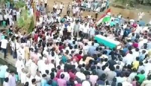 उग्रवादी हमले में शहीद हुए थे सचिन, पैतृक गांव में दी गई अंतिम विदाई