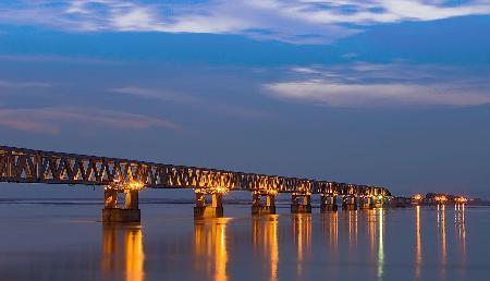 स्वीडन-डेनमार्क तकनीक से बना है देश का सबसे लंबा रेलवे-सड़क पुल