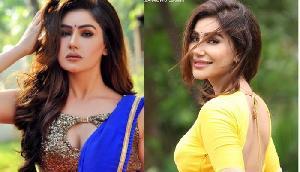 Blue saree  में अभिनेत्री ने मचा दिया तहलका, वायरल हुई तस्वीर