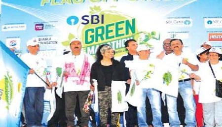 एसबीआई का ग्रीन मैराथन,जानिए किस-किस ने भाग लिया