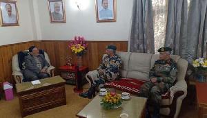 पूर्वी सेना कमान के प्रमुख ने किया सिक्किम का दौरा, CM से की मुलाकात