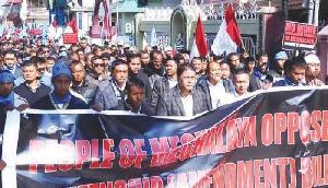 नागरिकता बिल के खिलाफ केएसयू की महारैली, 4 घंटे बंद रहे बाजार