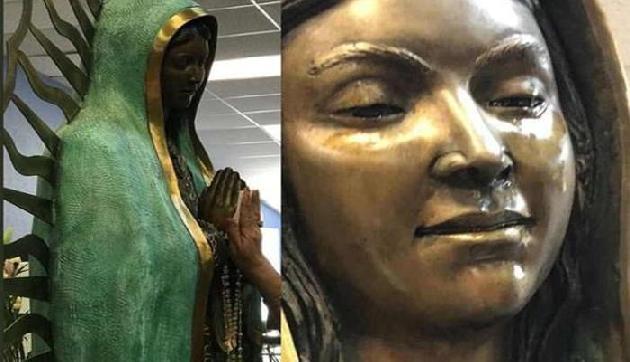 अमेरिका में एक हत्या के बाद मूर्ति के आंखों से निकल रहे हैं आंसू