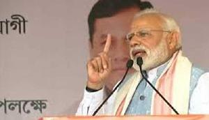 मोदी ने कांग्रेस पर हमला बोला, कहा -  चौकीदार की चौकसी देखकर बौखलाए भ्रष्टाचारी