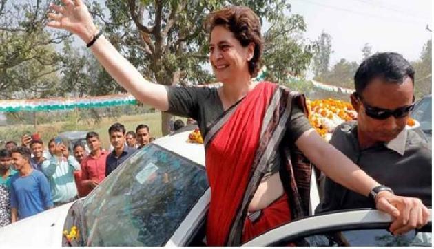 आज पूर्वोत्तर में पहली बार प्रियंका गांधी का रोड शो