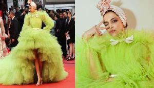 कान्स में दीपिका ने पहनी ऐसी ड्रेस, उड़ रहा मजाक