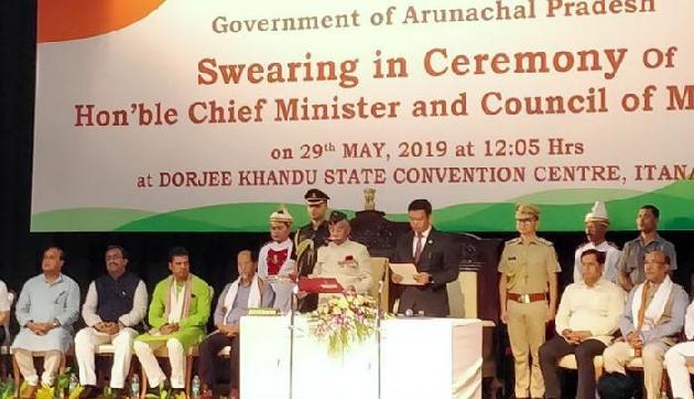 पेमा खांडू दूसरी बार बने अरुणाचल प्रदेश के मुख्यमंत्री, ली पद और गोपनीयता की शपथ