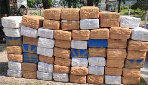 पुलिस ने जब्त की 590 किलो गांजा, फिर ट्विटर पर लिखा ऐसा, लोगों ने उड़ाया मजाक