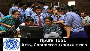 त्रिपुरा TBSE Arts, Commerce 12th Result 2019 यहां देखें