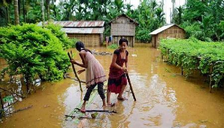 ब्रह्मपुत्र का जल स्तर बढ़ा ,  91 गांव जलमग्न, हालात भयावह
