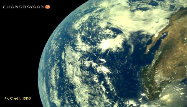 Chandrayaan2 ने भेजी पृथ्वी की ये बेहद खूबसूरत तस्वीरें, पल भर में हो गईं Viral