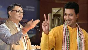 अनुच्छेद 370 हटाः खेल मंत्री रिजिजू और त्रिपुरा के मुख्यमंत्री देब ने लिखा #BharatEkHai
