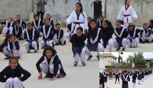चीन की सीमा से सटे इस गांव की बेटियां ले रही मार्शल आर्ट की ट्रेनिंग
