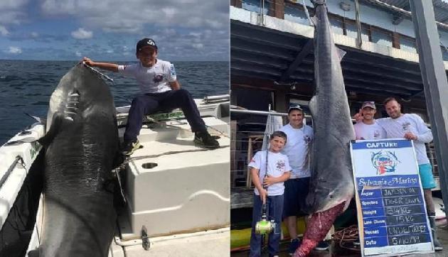 बच्ची ने पकड़ी 314 किलो की शार्क, तोड़ा 22 साल पुराना रिकार्ड