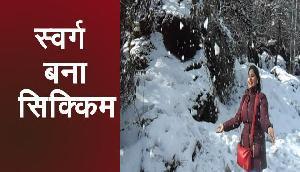 बर्फबारी से खूबसूरत हुई सिक्किम की वादियां, पर्यटन स्थलों पर बढ़ी लोगों की भीड़