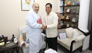 शाह का CM को भरोसा, नगा समझौते पर हस्ताक्षर के समय रखा जाएगा Assam के हितों का ध्यान