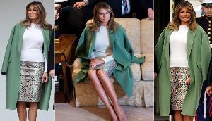 ट्रंप की पत्नी ने पहनी साढ़े पांच लाख की स्कर्ट, लोगों ने किया ऐसा हाल