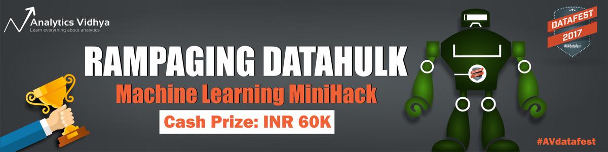 Cover image for #AVdatafest Rampaging DataHulk: Machine Learning Mini-Hack