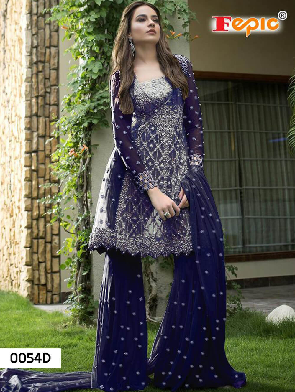 0054D Designer Pakistani Style Indian Suit