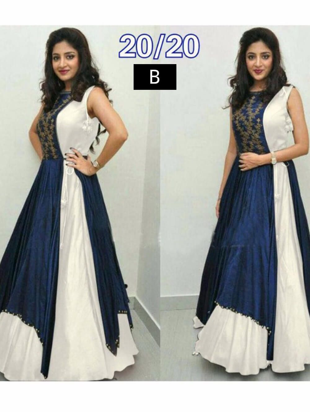 2020B Off White Designer Banglory Stitched Gown