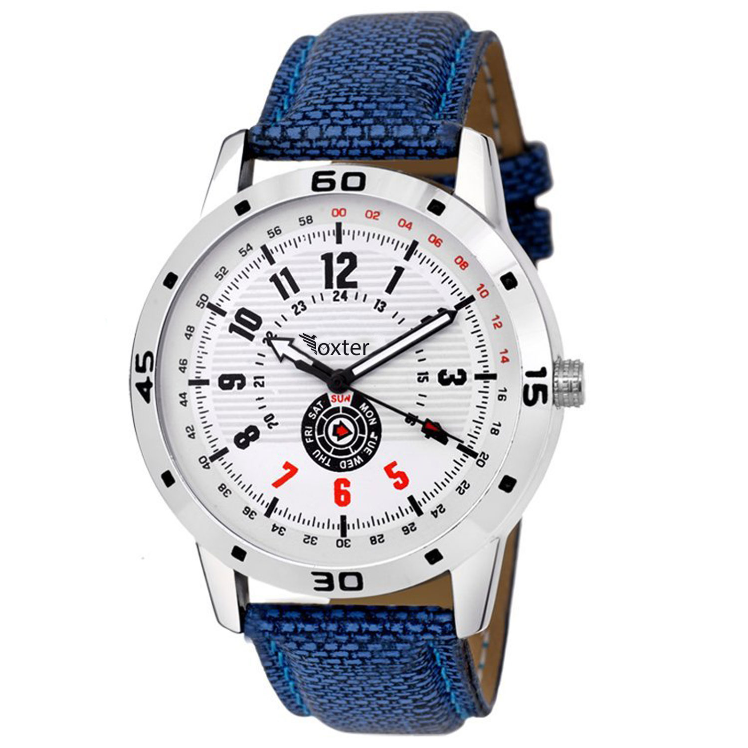 FX M 478 Blue Band Analogue Mens Watch