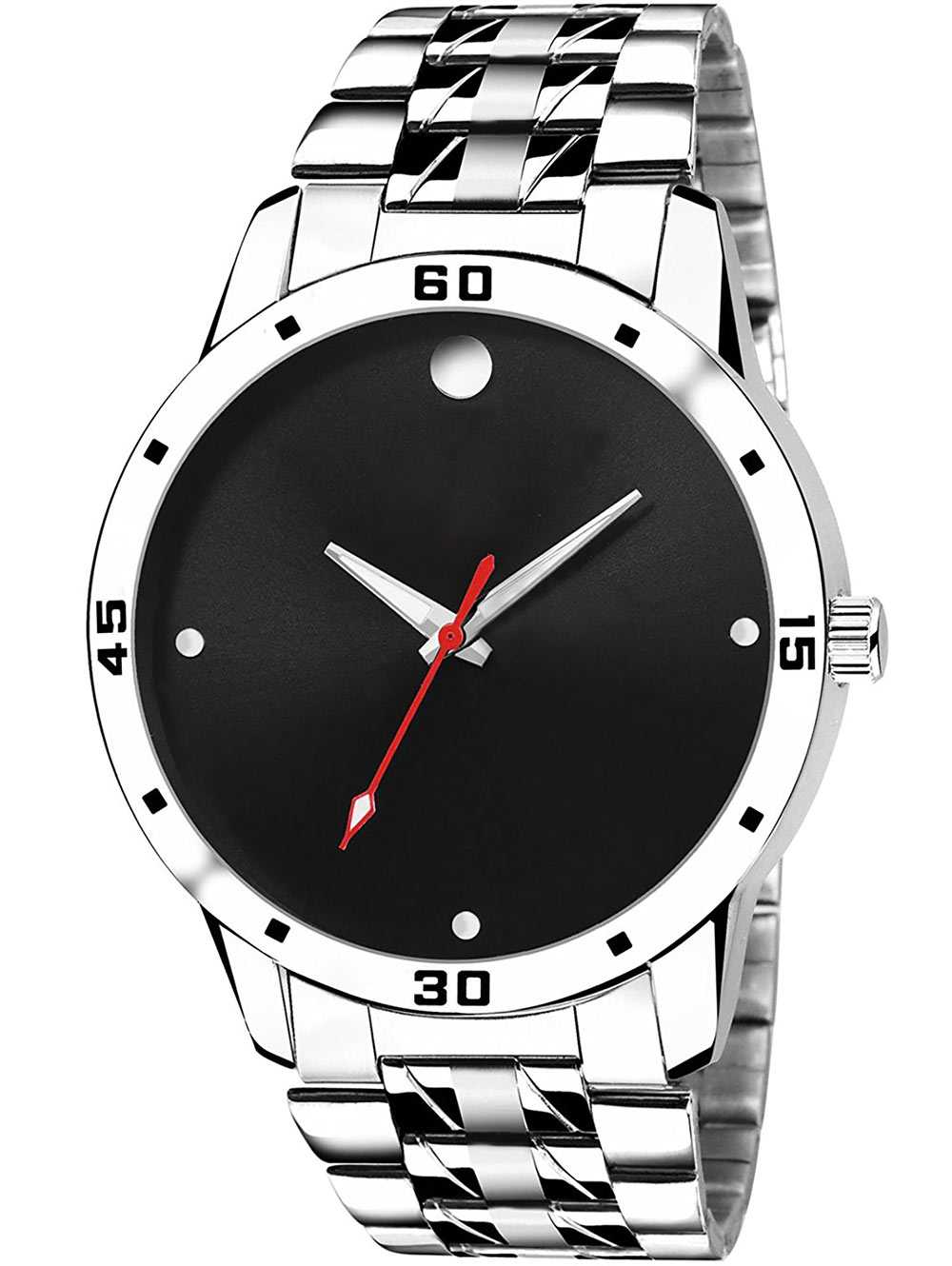 FX466 Silver Band White Dial Analogue Mens Watch
