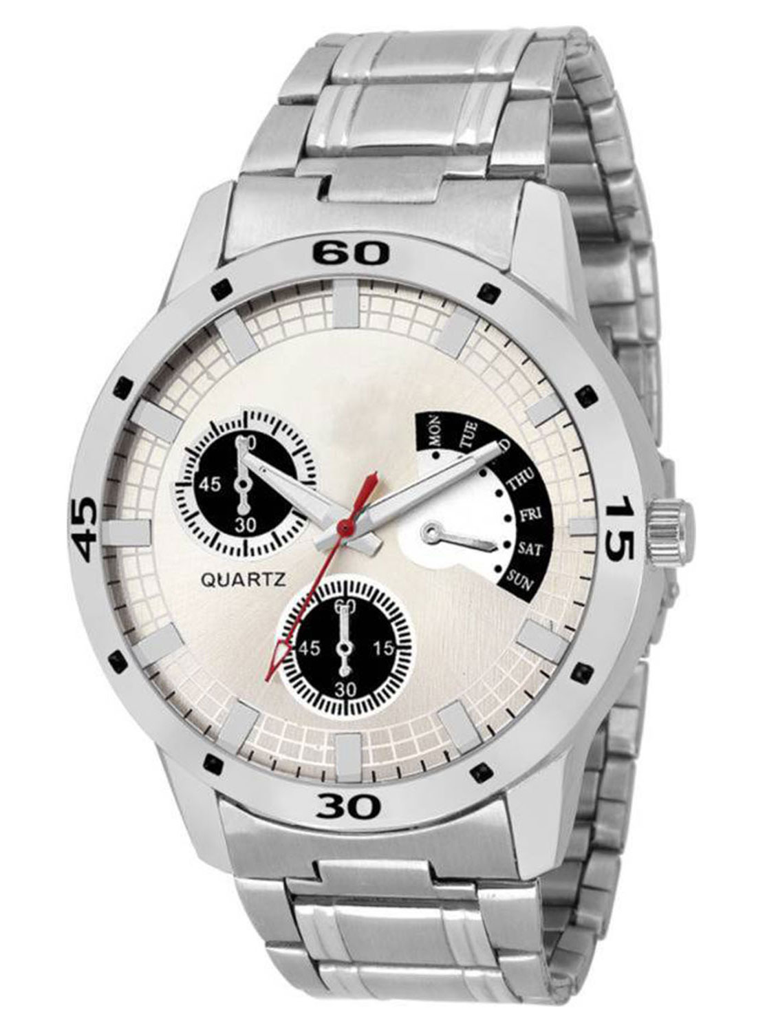 FX426 Silver Band Analogue Mens Watch