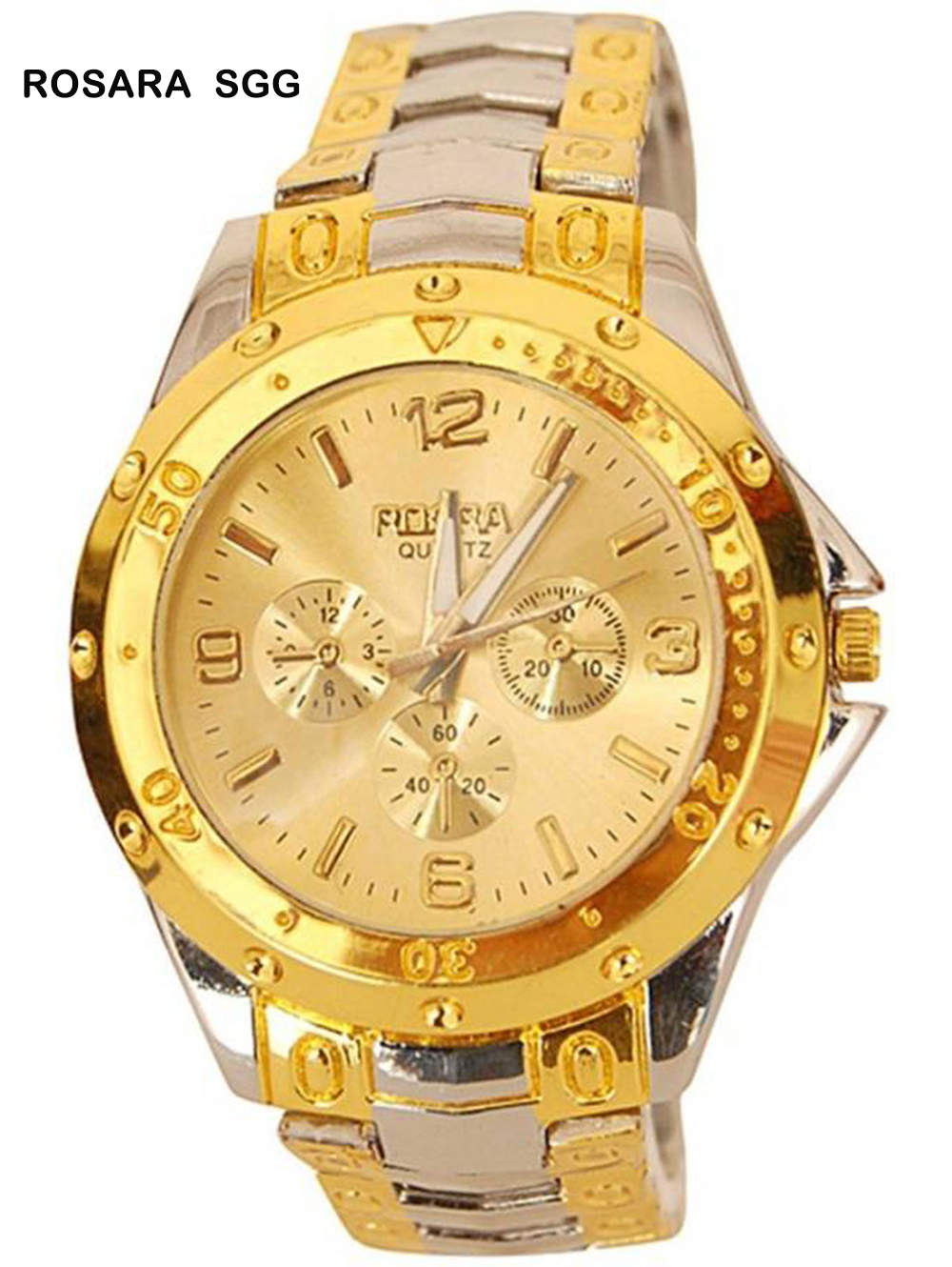 SILVER GOLD GOLD DIAL Analogue Mens Watch