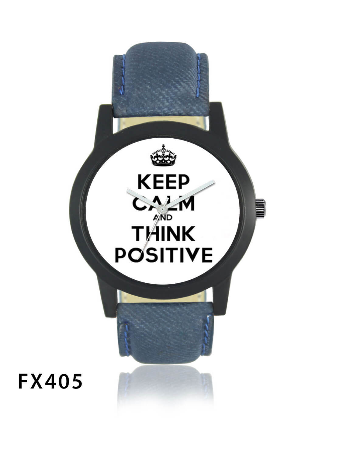 FX405 Blue Band Think Positive Mens Watch