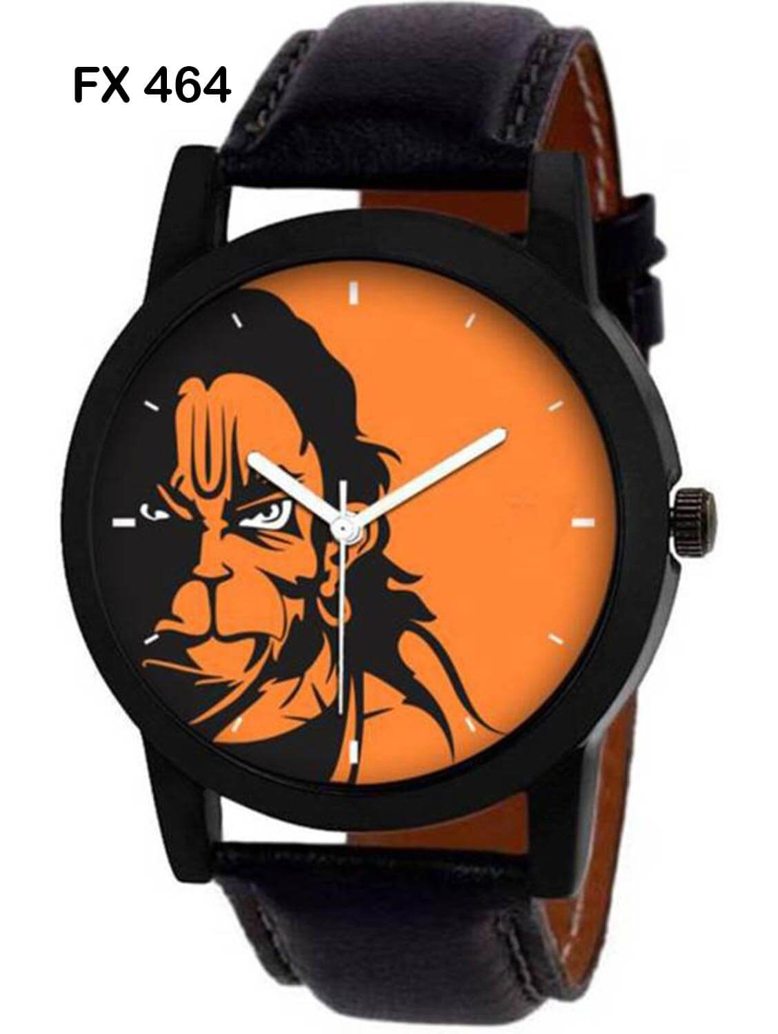 FX464 Black Band Analogue Hanuman Mens Watch