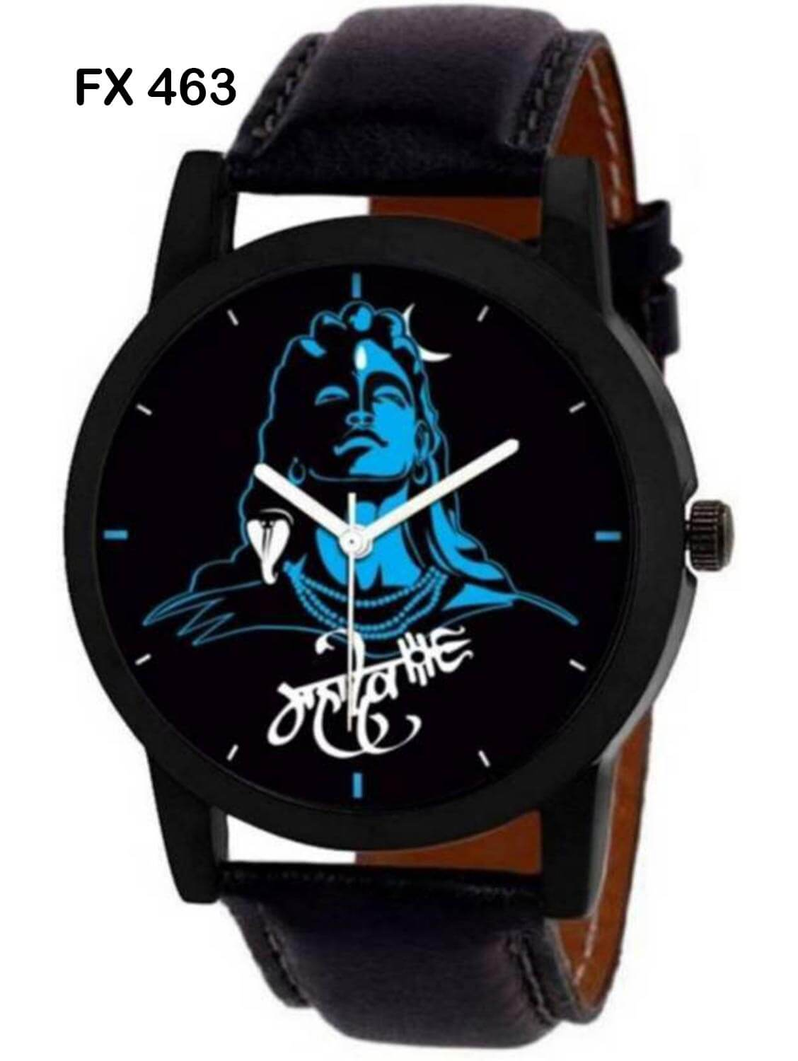 FX463 Black Band Mahadev Mens Watch