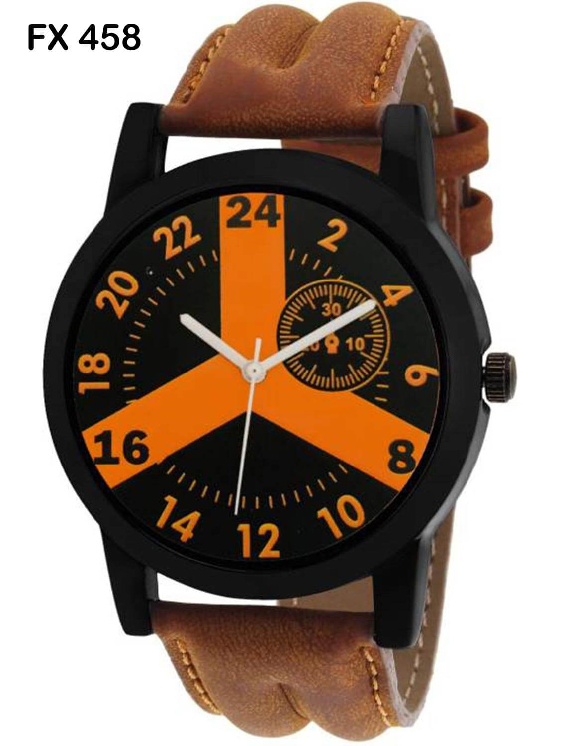 FX458 Brown Band Analogue Mens Watch