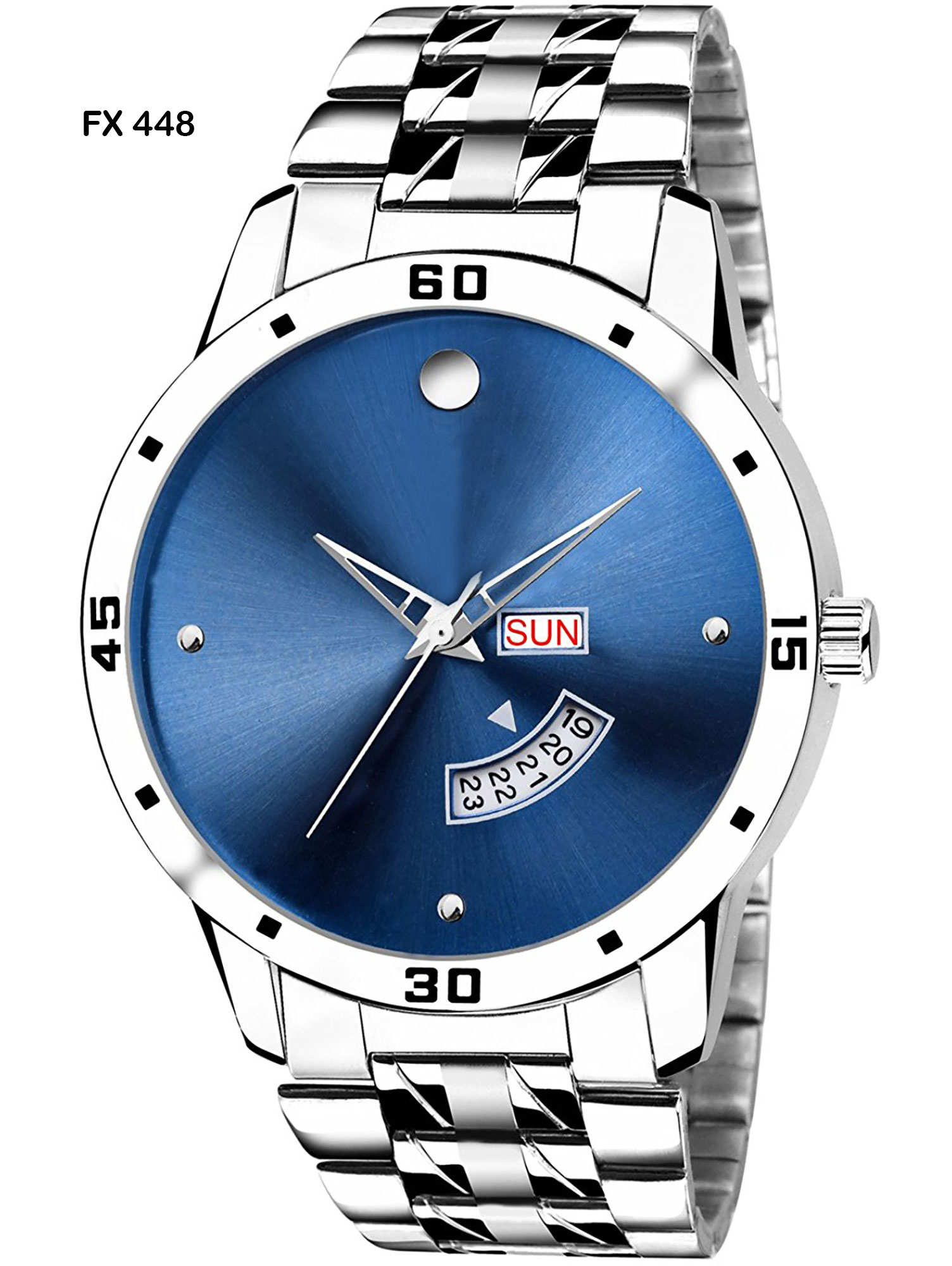 FX448 Silver Body and Blue Dial Mens Watch