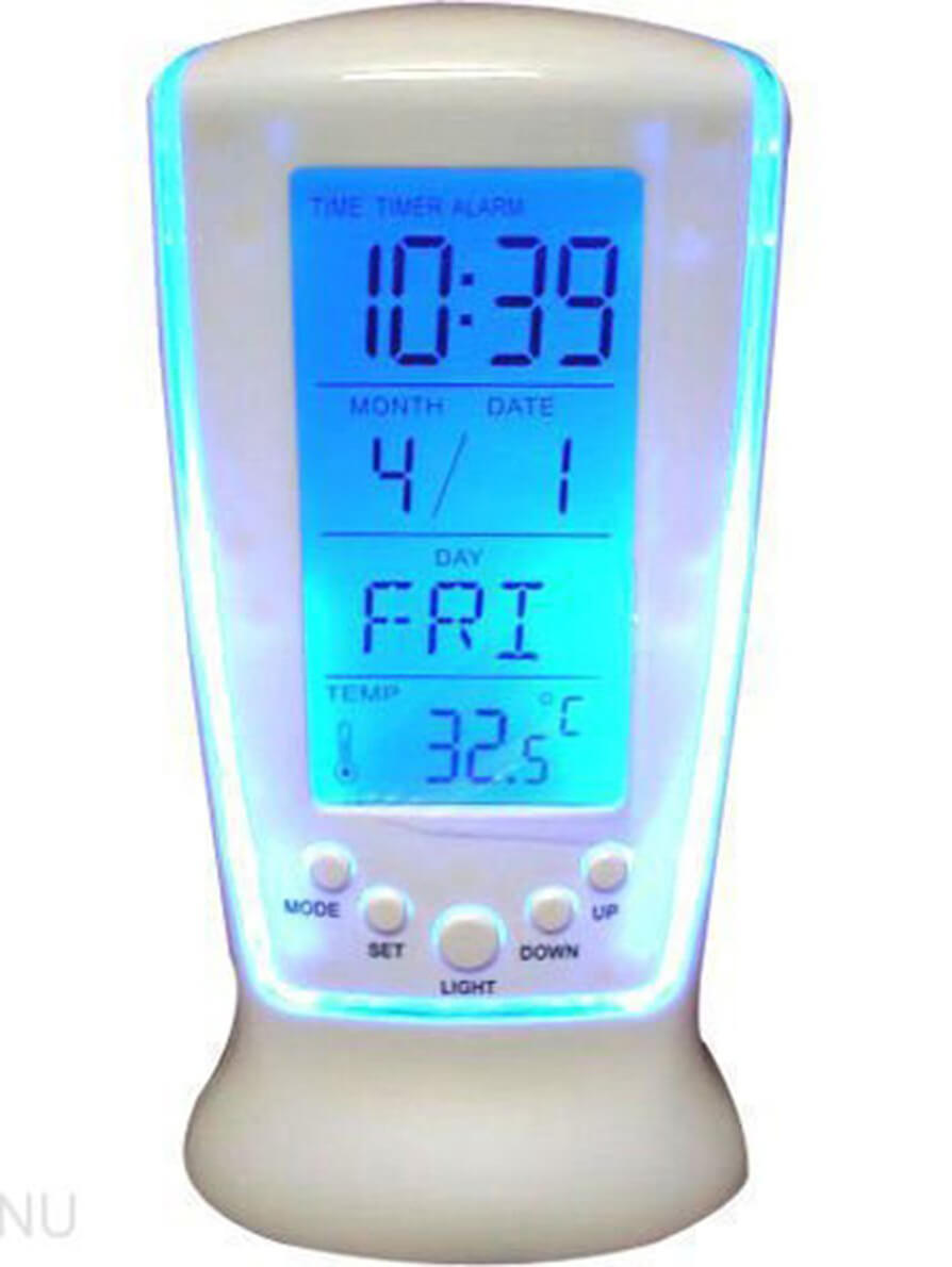 Digital Alarm Temperature Calendar Table Clock