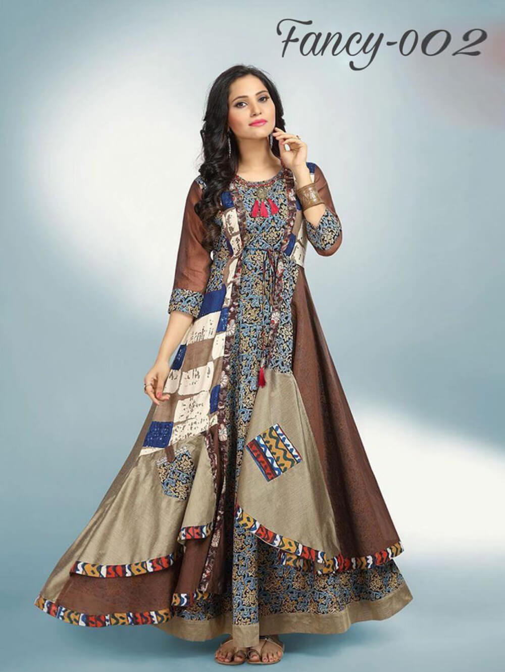 Fancy 002 L Size Designer Kurti Collection