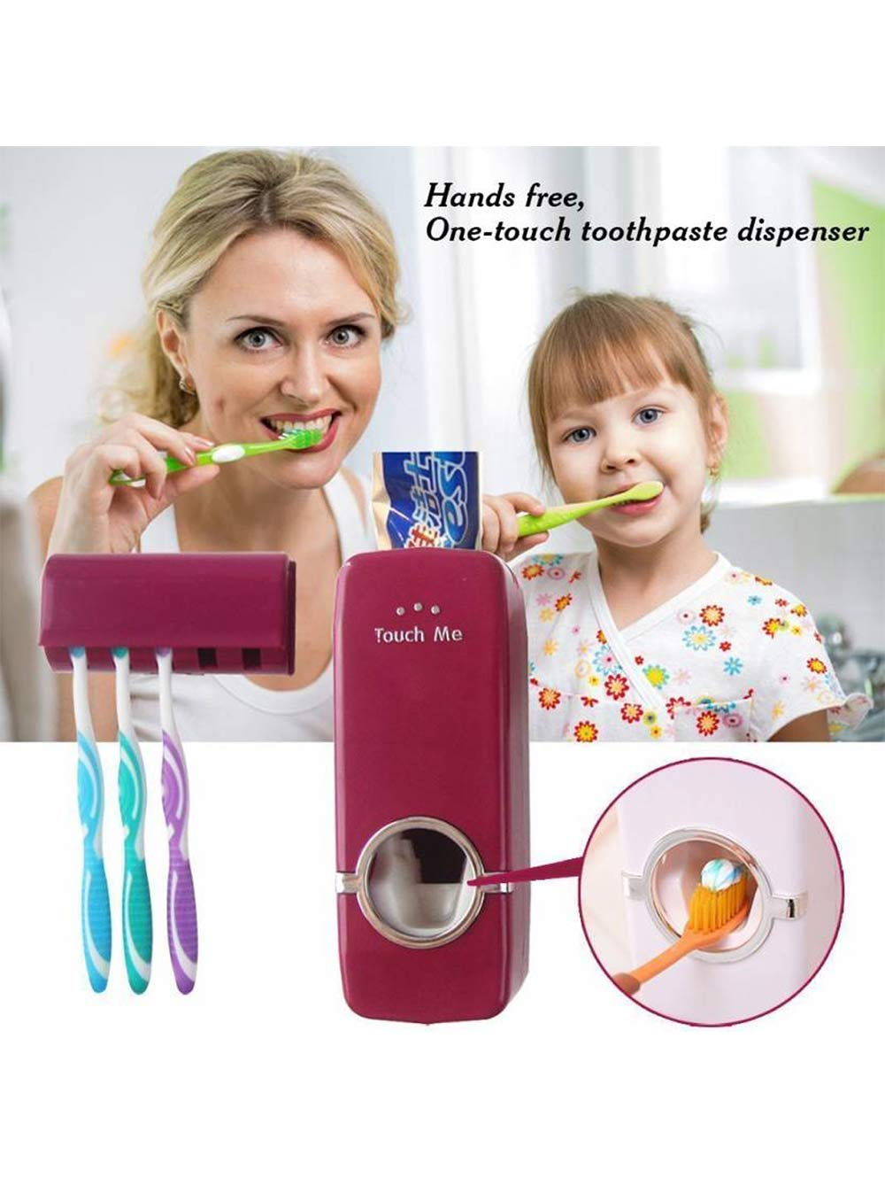 Toothpaste Dispenser with Toothbrush Holder Plastic Toothbrush Holder????