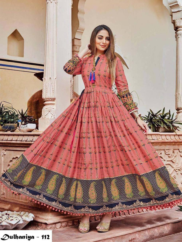 112 Exclusive Designer  Anarkali Style Kurti Collection