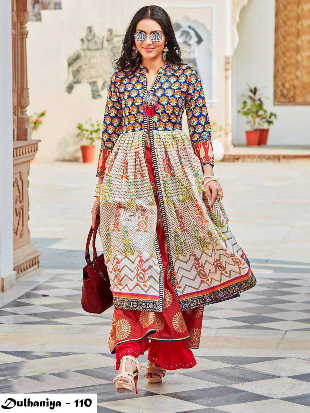 110 Exclusive Designer  Anarkali Style Kurti Collection