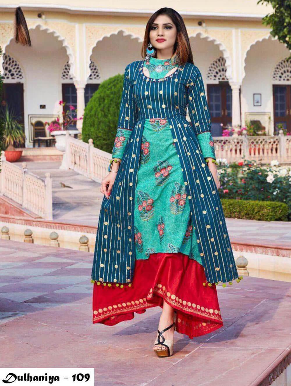 109 Exclusive Designer  Anarkali Style Kurti Collection