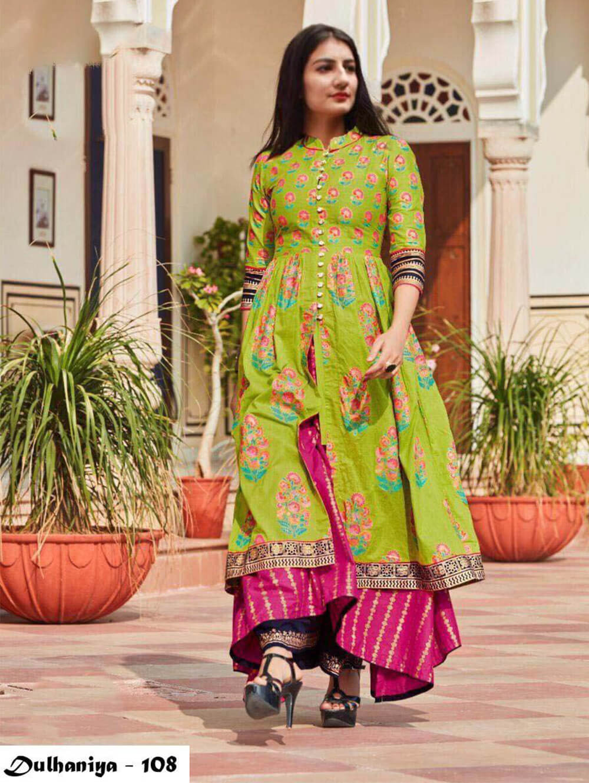 108 Exclusive Designer  Anarkali Style Kurti Collection