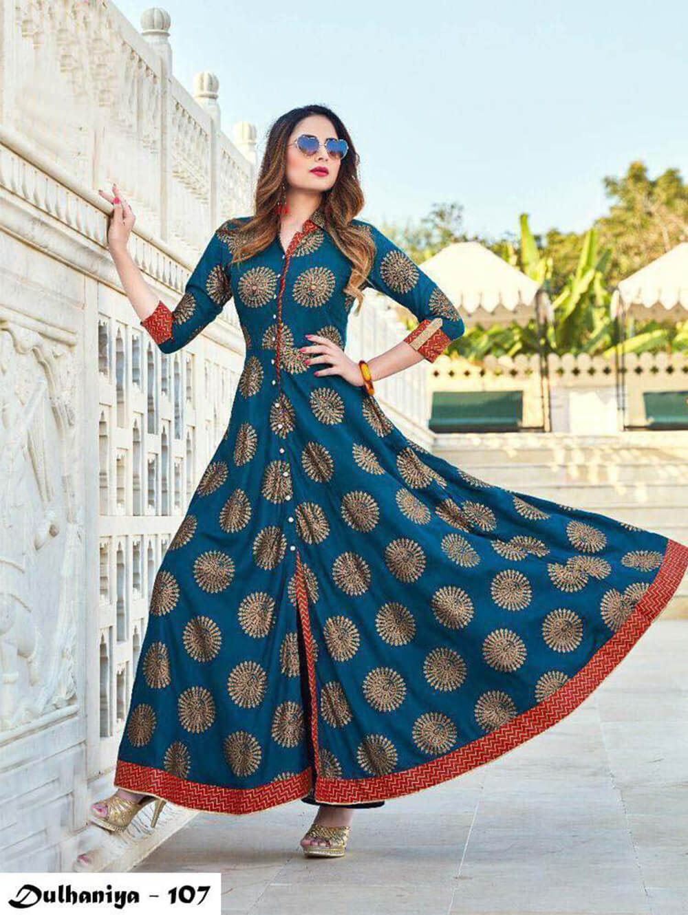 107 Exclusive Designer  Anarkali Style Kurti Collection